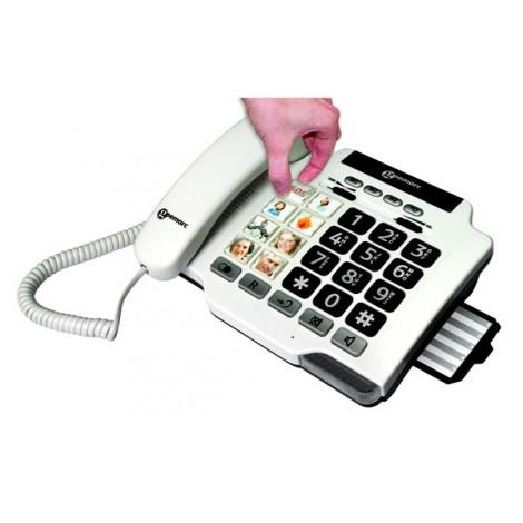 TÉLÉPHONE FILAIRE PHOTOPHONE 100 G. touches Photo Compatible appareil auditif-GEE003
