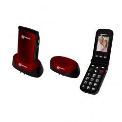 TÉLÉPHONE GSM GEEMARC CL8450 Grosses touches à clapet Appel SOS-GEE023