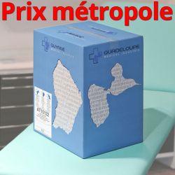 Drap d'examen AT10122 bleu Ouate plastifiée 120cm T50 34g/m² Carton de 15 rouleaux - J267GSM114/AT10122/C619104