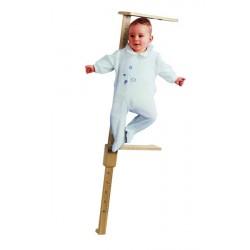 Toise bébé en bois  Plage 100 cm, graduation 5 mm, chiffre tous les 5 cm -  4444700